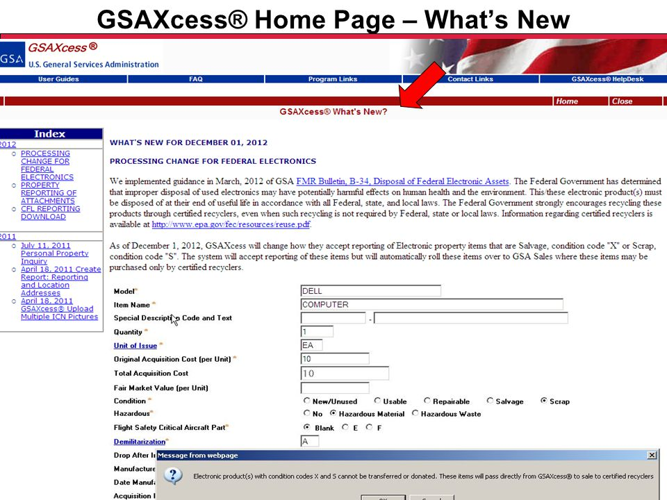 Federal Acquisition Service U.S. General Services Administration GSAXcess® Home Page – How To