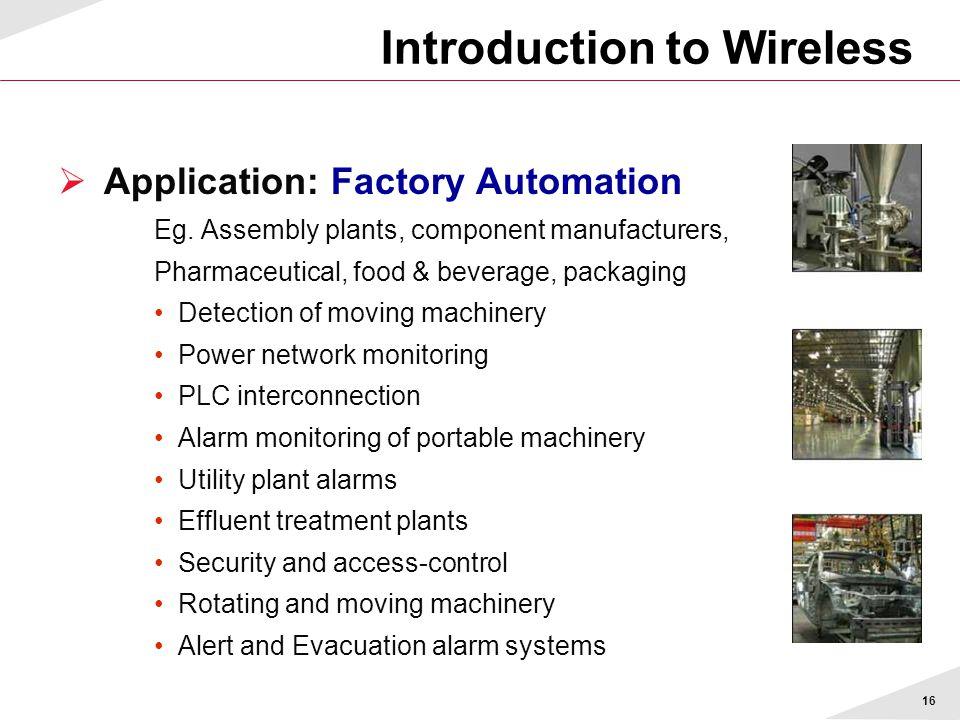 16  Application: Factory Automation Eg.