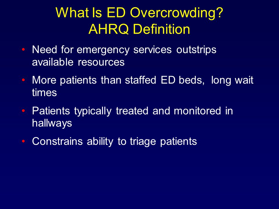What Is ED Overcrowding.