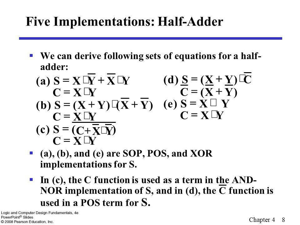 Chapter 4 19 Complements  Two complements: Diminished Radix Complement of N  (r  1)'s complement for radix r  1's complement for radix 2  Defined as (r n     Radix Complement  r's complement for radix r  2's complement in binary  Defined as r n  N  Subtraction is done by adding the complement of the subtrahend  If the result is negative, takes its 2's complement