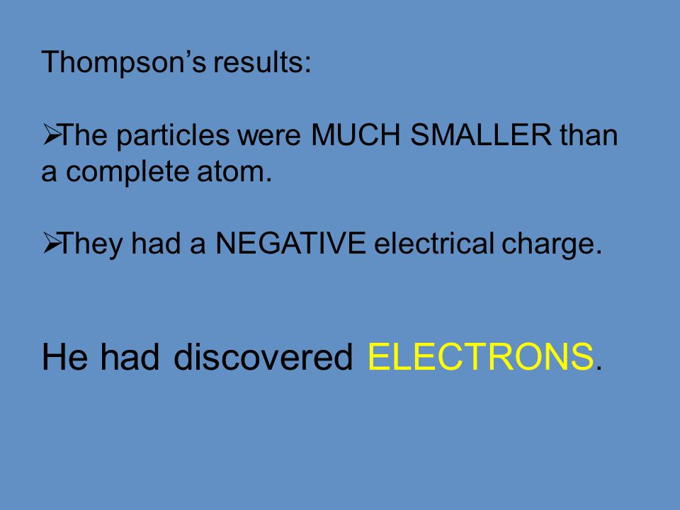 JJ talking about the tiny size of electrons.
