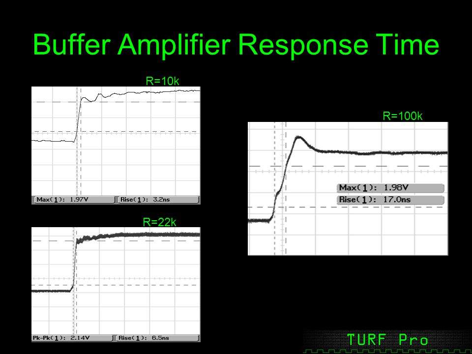 Buffer Amplifier Response Time R=10k R=22k R=100k