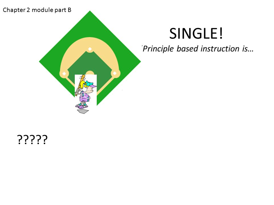 "SINGLE! ""Principle based instruction is… ????? Chapter 2 module part B"