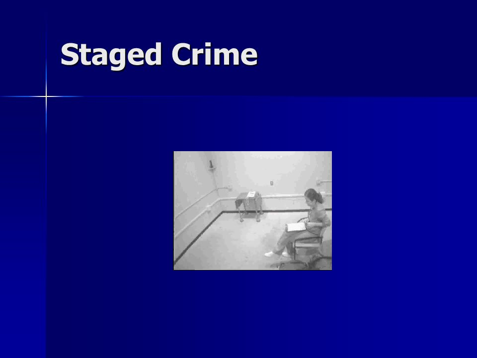 Staged Crime