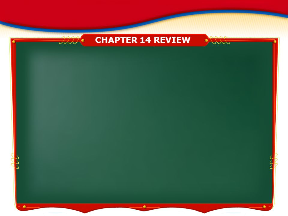 CHAPTER 14 REVIEW