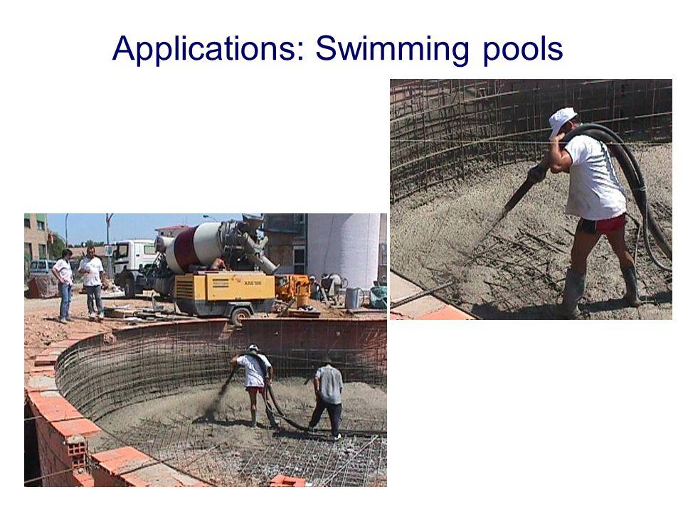 Applications: Swimming pools