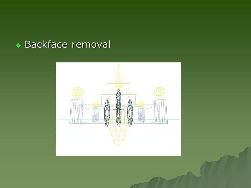  Backface removal