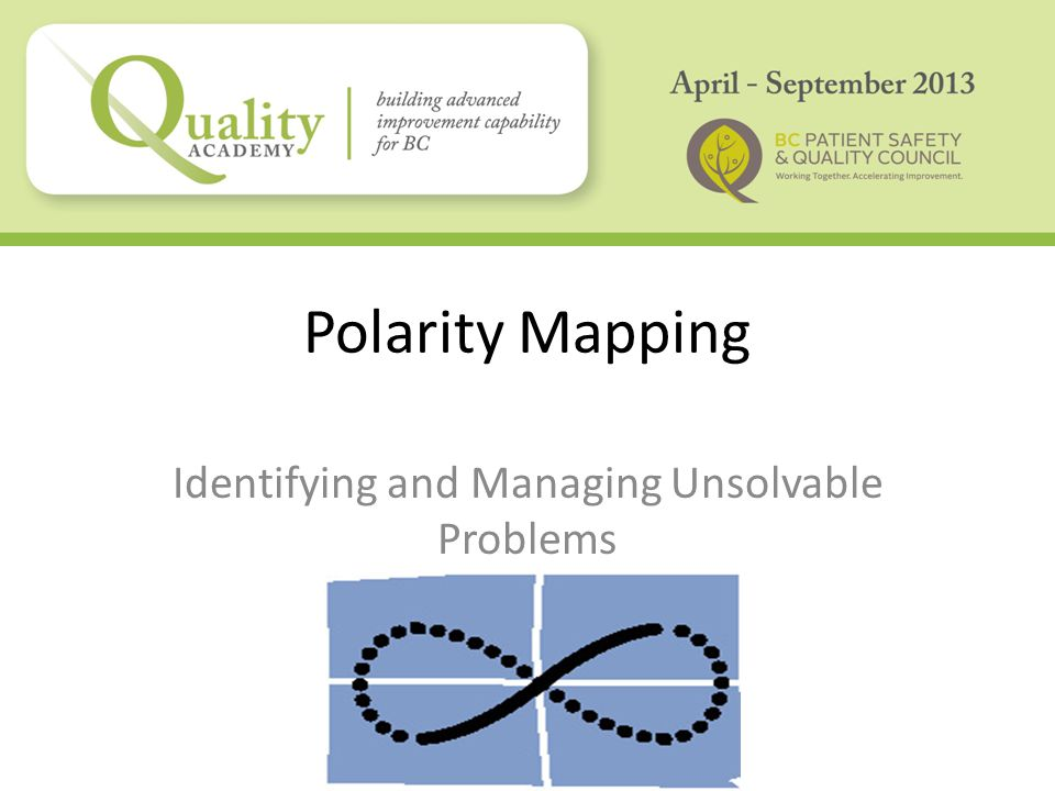 Polarity Mapping Identifying and Managing Unsolvable Problems