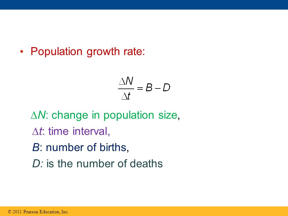 Population growth rate: © 2011 Pearson Education, Inc.