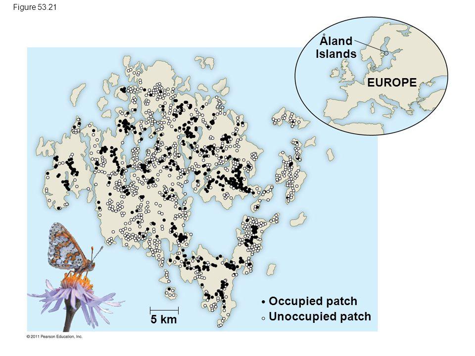 Aland Islands ˚ EUROPE Occupied patch Unoccupied patch 5 km Figure 53.21
