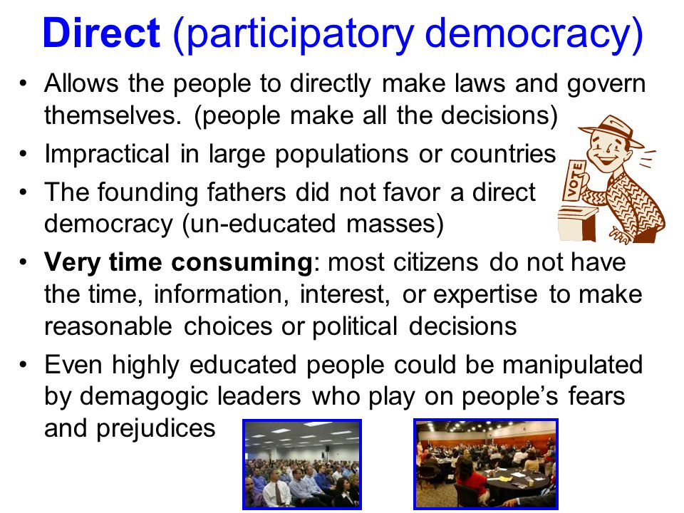Theories of Democratic Government Hyper-pluralism theory: Democracy is a system of many groups having so much strength that government is often pulled in numerous directions at the same time, causing gridlock and ineffectiveness (negative view, government is weakened)