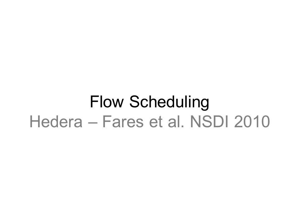 Flow Scheduling Hedera – Fares et al. NSDI 2010