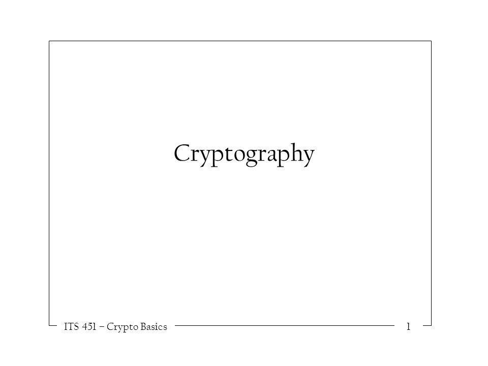 ITS 451 – Crypto Basics1 Cryptography