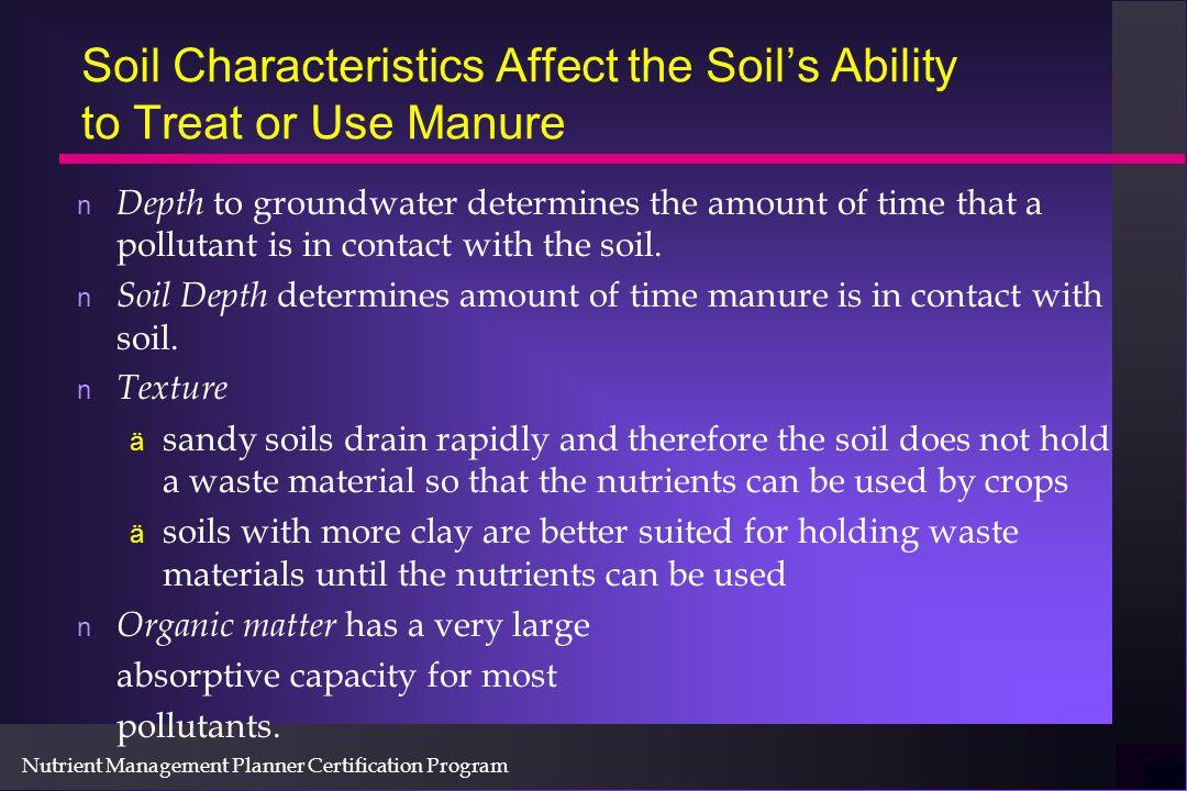 Nutrient Management Planner Certification Program Environmental Rating : Surface Applied Liquid Land Application Equipment