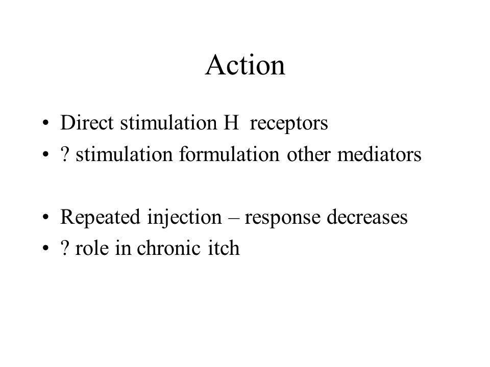 Action Direct stimulation H receptors .