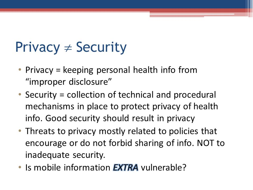 Privacy  Security