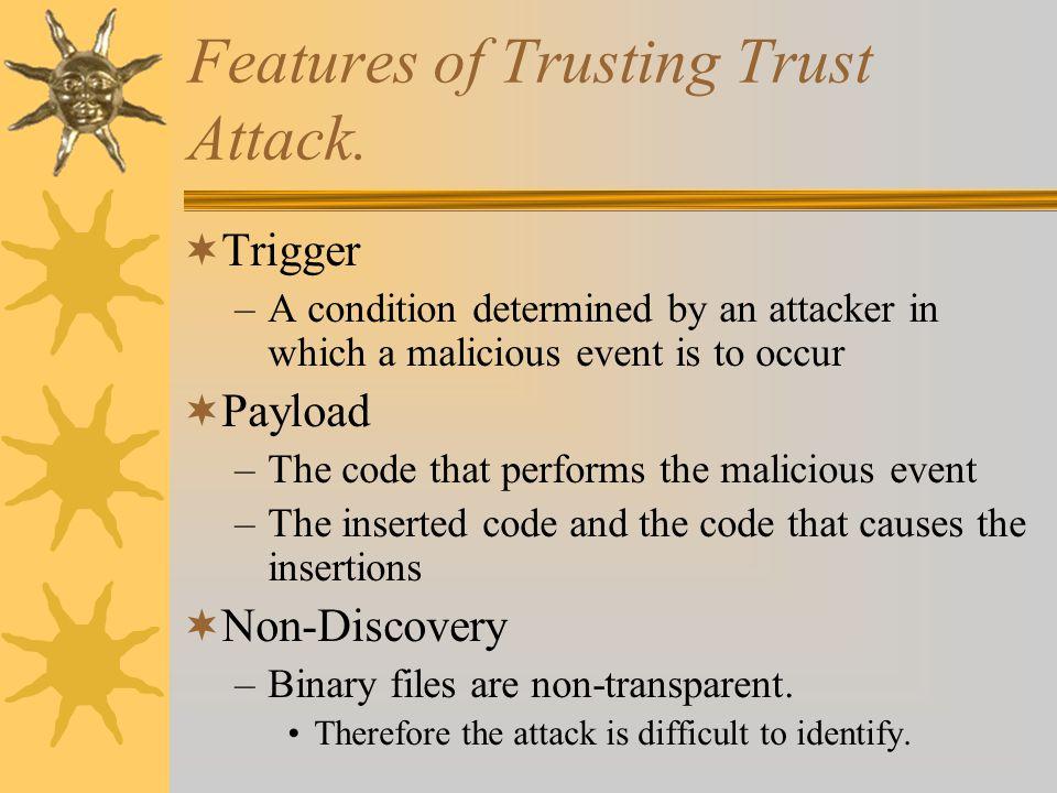 Features of Trusting Trust Attack.