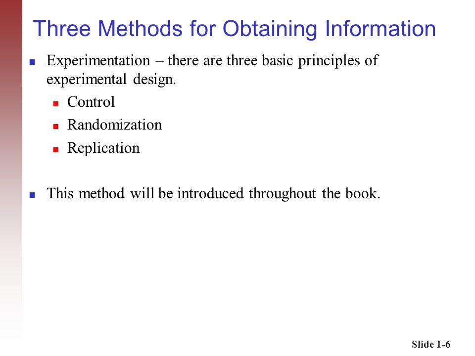 Slide 1-7 Simple Random Sampling Simple Random Sample There are two types of simple random sampling.