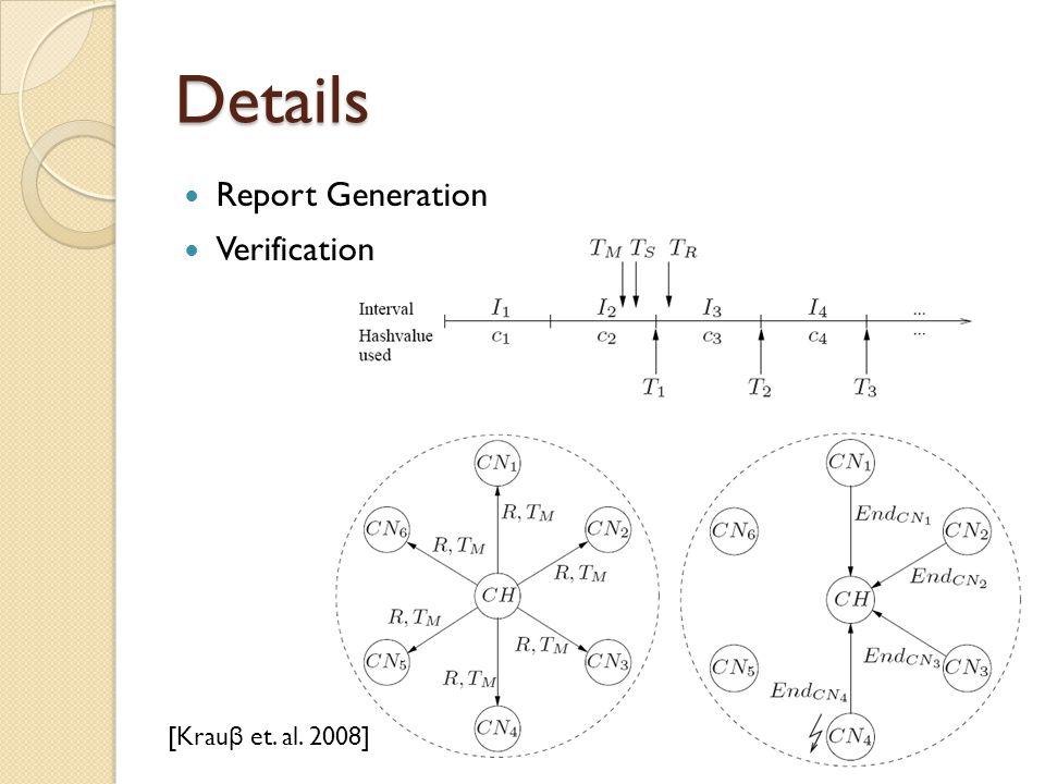 Details Report Generation Verification [Krau β et. al. 2008]