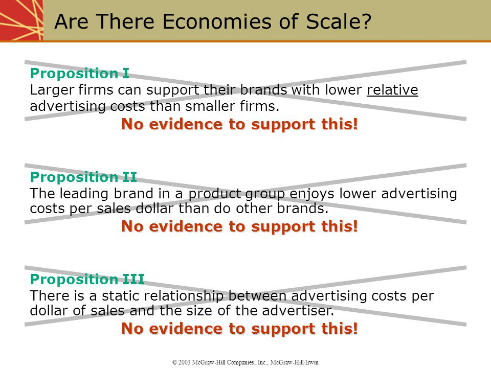 Are There Economies of Scale.