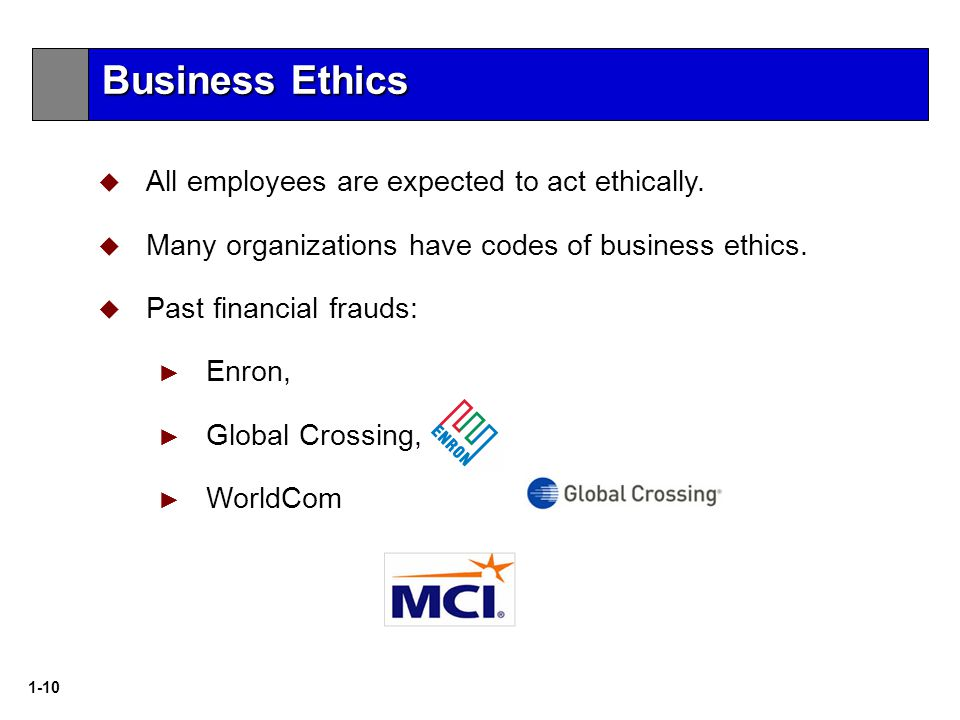 1-10  All employees are expected to act ethically.