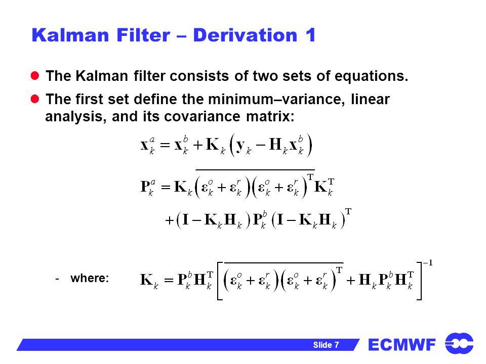 ECMWF Slide 28 Non-Gaussian Methods from: Fox et al.