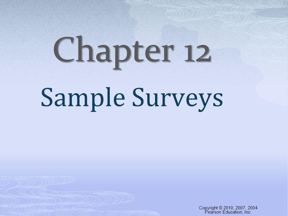 Cluster sampling is not the same as stratified sampling.