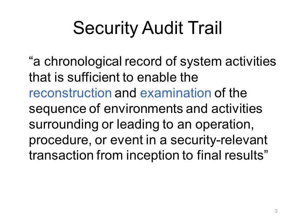 Security Audit and Alarms Model (ITU-T X.816) 4