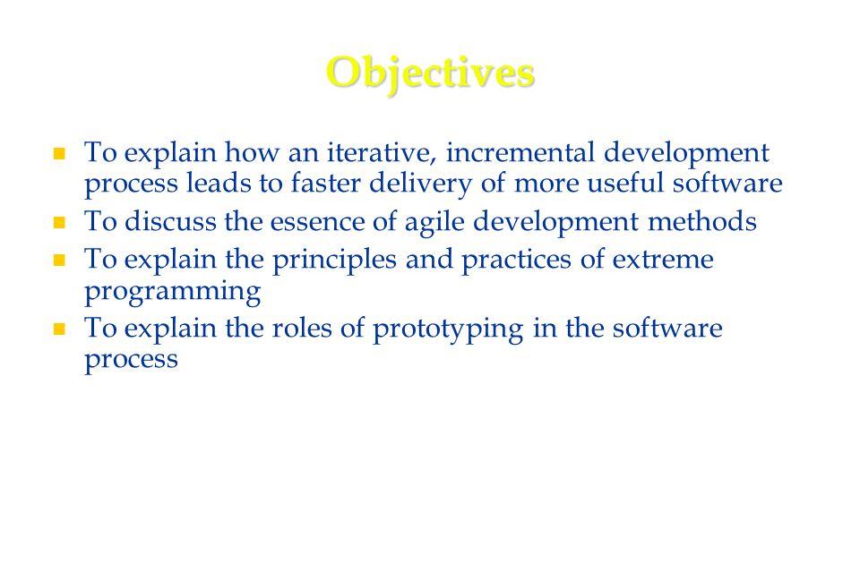 4 Topics covered Agile methods Agile methods Extreme programming Extreme programming Rapid application development Rapid application development Software prototyping Software prototyping