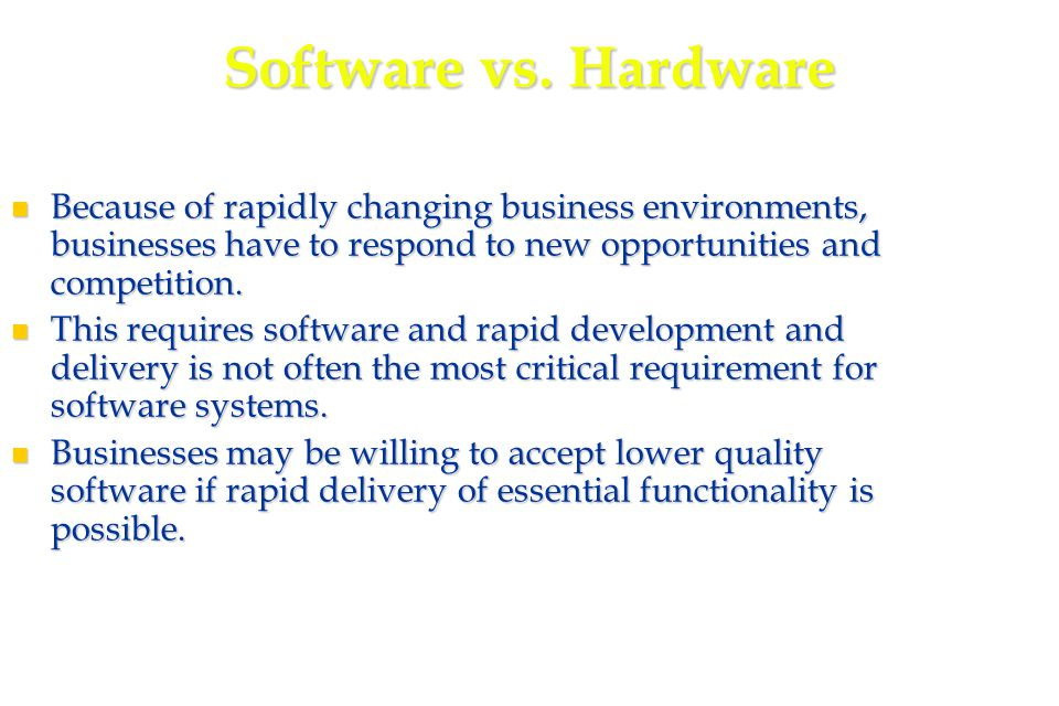 26 XP and change Conventional wisdom in software engineering is to design for change.