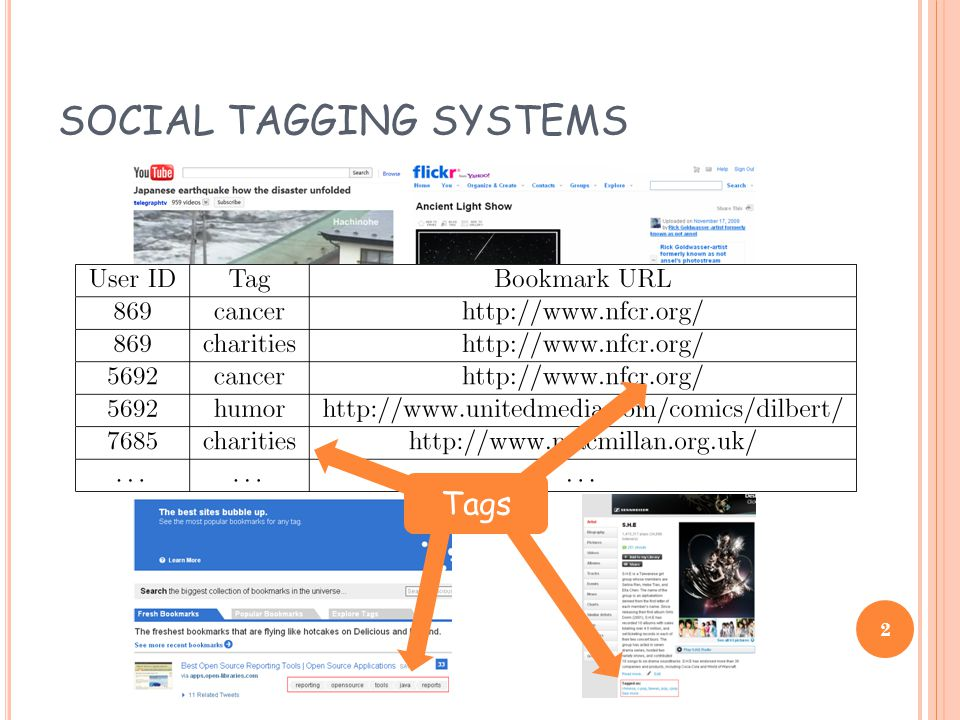 SOCIAL TAGGING SYSTEMS Tags 2