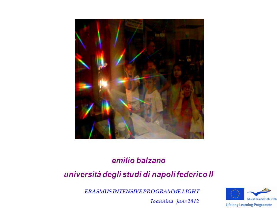 emilio balzano università degli studi di napoli federico II ERASMUS INTENSIVE PROGRAMME LIGHT Ioannina june 2012