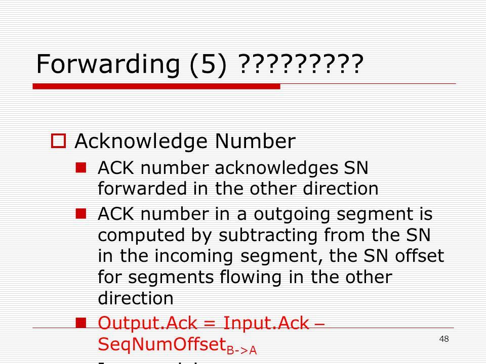 48 Forwarding (5) .