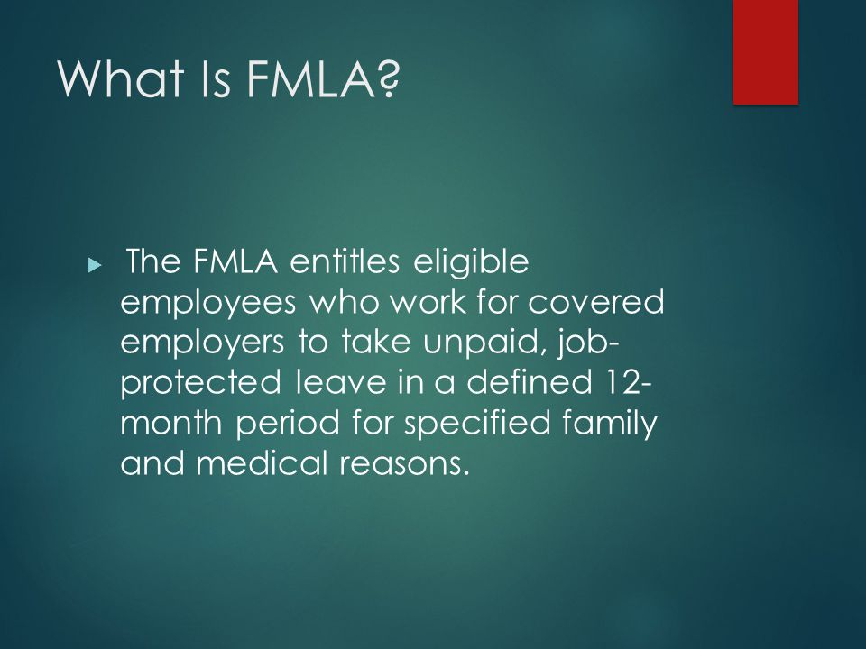Intermittent FMLA  Intermittent leave is also allowed under FMLA, with the same requirements for medical certification and leave usage  You are not required to provide intermittent leave for a birth of a child