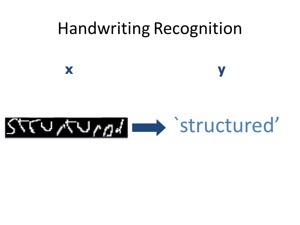 Handwriting Recognition `structured' xy
