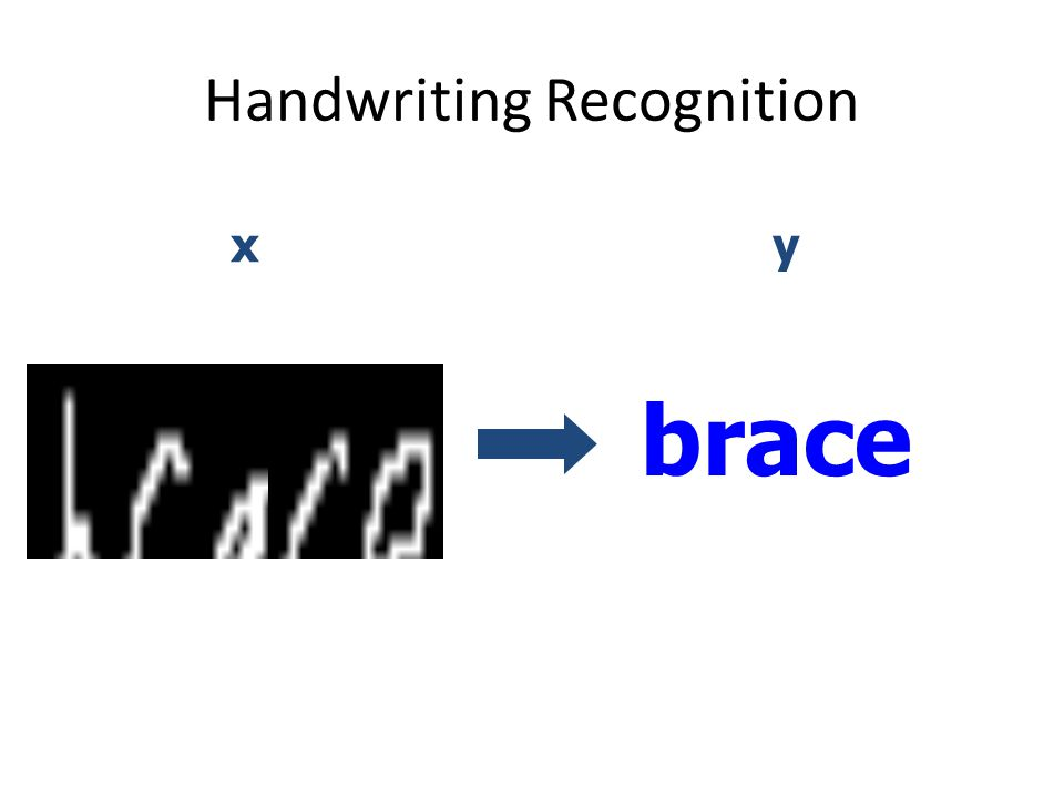 Handwriting Recognition brace xy