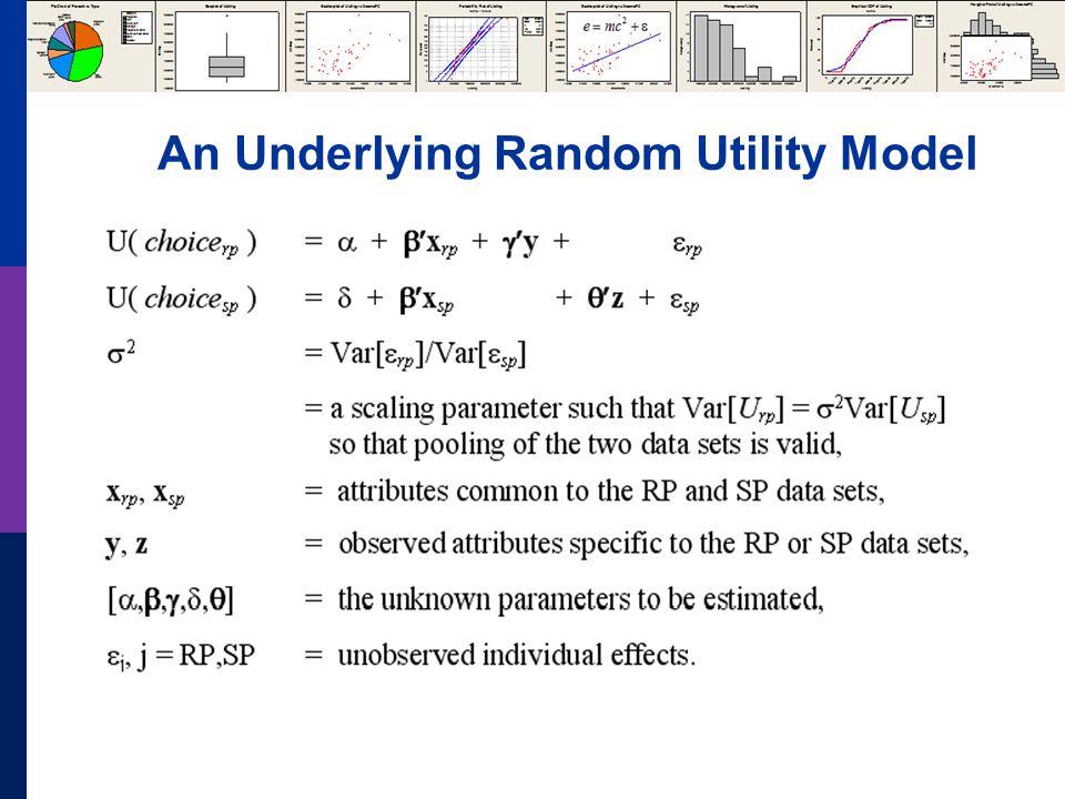 An Underlying Random Utility Model