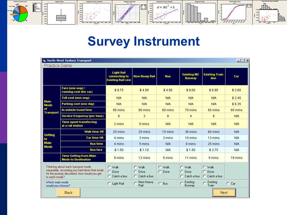 Survey Instrument