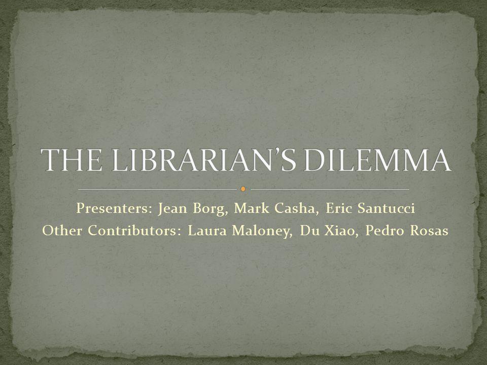 Presenters: Jean Borg, Mark Casha, Eric Santucci Other Contributors: Laura Maloney, Du Xiao, Pedro Rosas