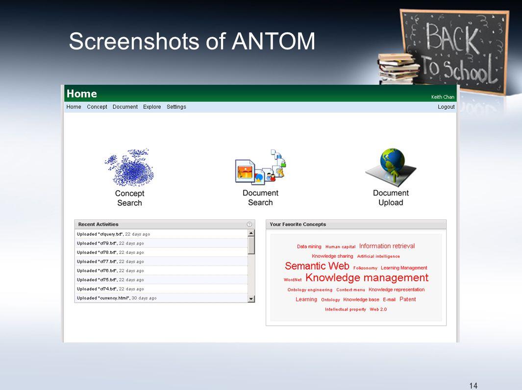 Screenshots of ANTOM 14