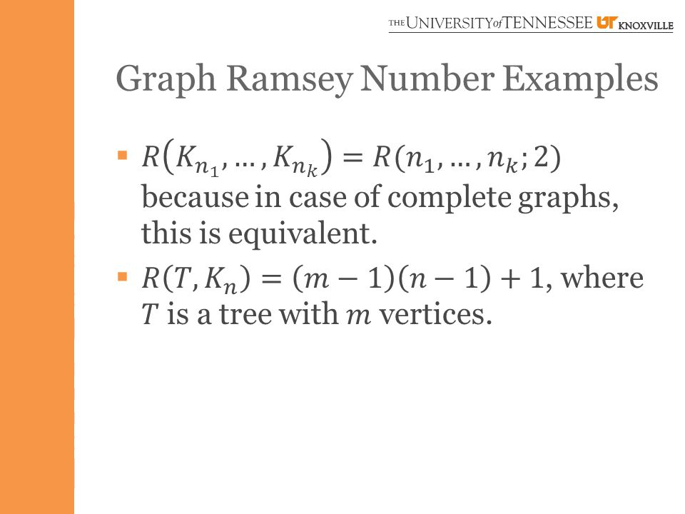 Graph Ramsey Number Examples