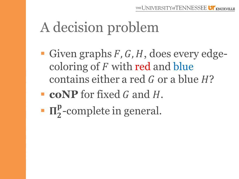 A decision problem