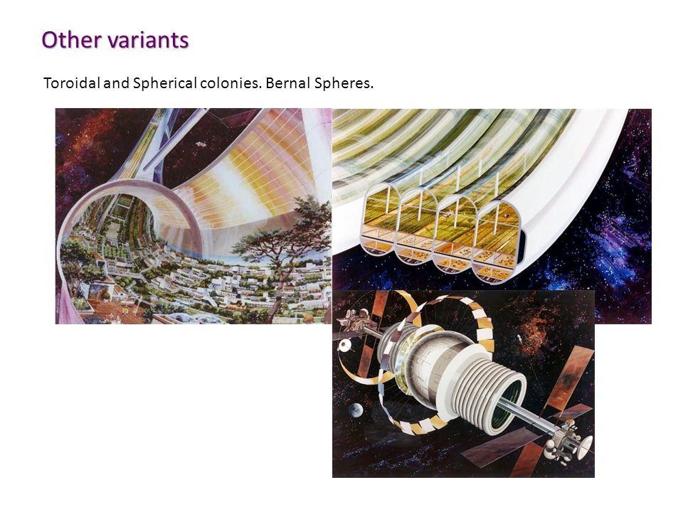 Other variants Toroidal and Spherical colonies. Bernal Spheres.
