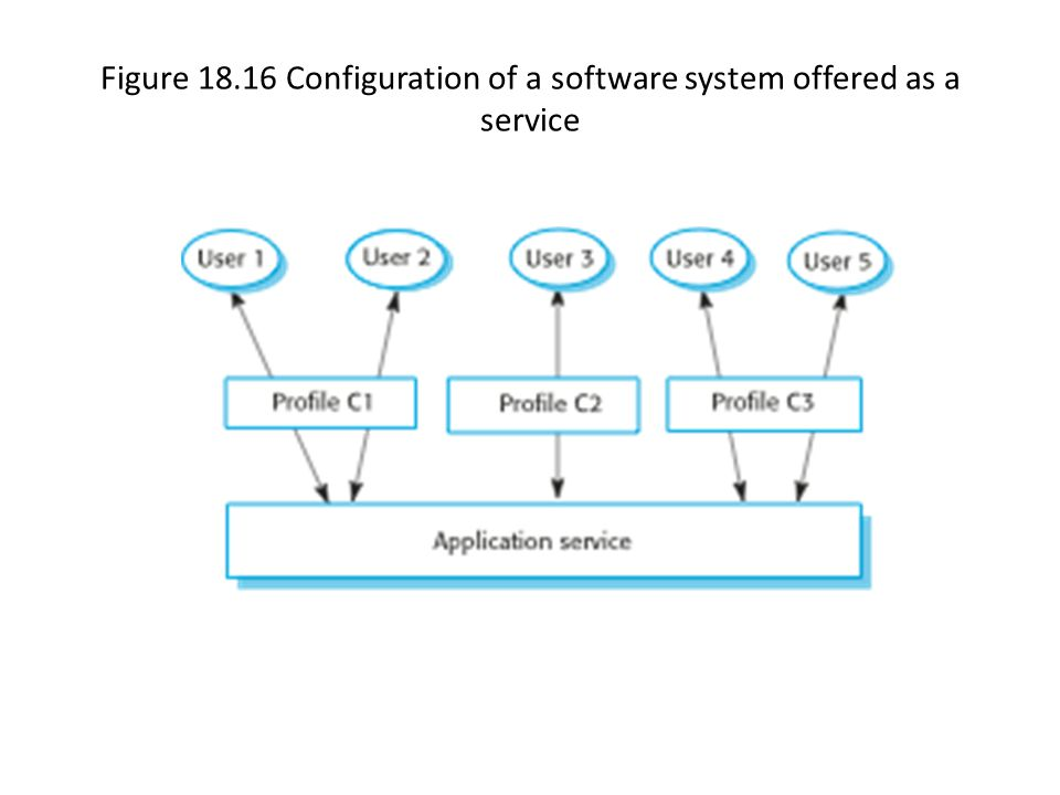 Figure 18.16 Configuration of a software system offered as a service