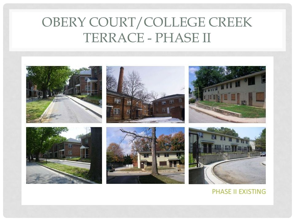 OBERY COURT/COLLEGE CREEK TERRACE - PHASE II