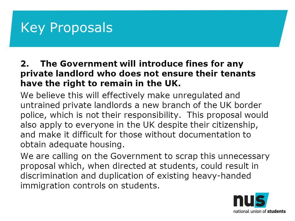 Key Proposals 2.