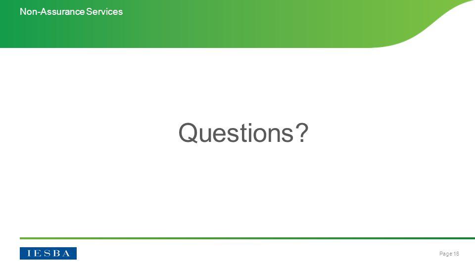 Page 16 Questions Non-Assurance Services
