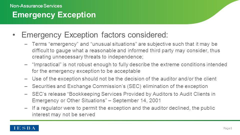 Page 16 Questions? Non-Assurance Services