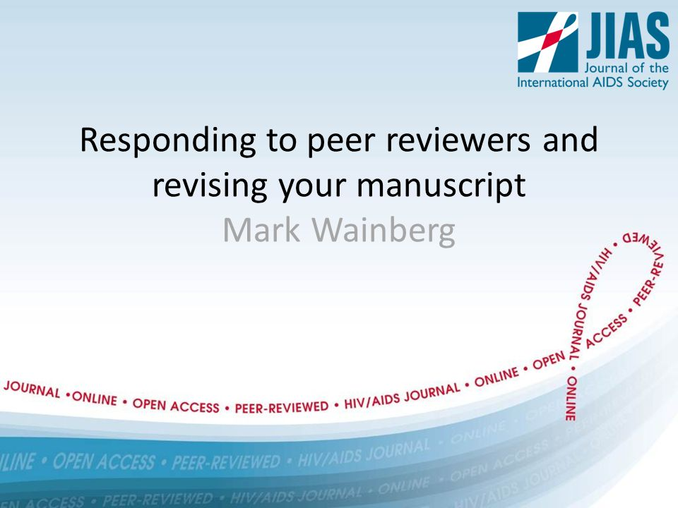 Peer reviewer comments - categorising Difference of opinion irresolvable Request impossible Request possible, but impractical Difference of interpretation Request acceptable