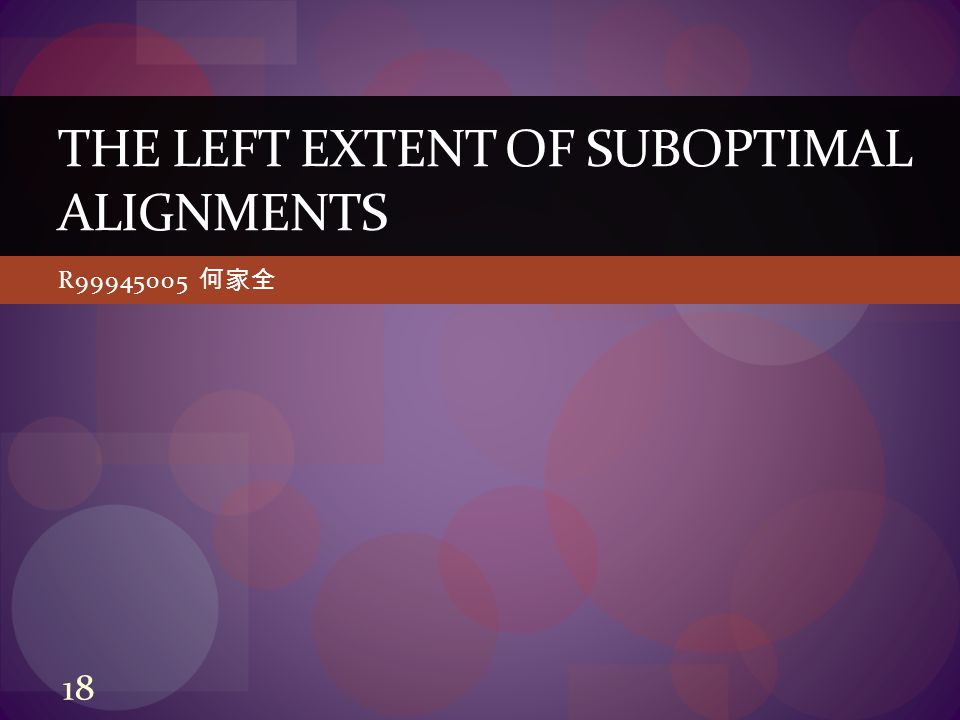 R99945005 何家全 THE LEFT EXTENT OF SUBOPTIMAL ALIGNMENTS 18